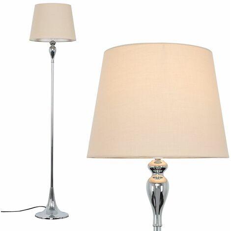 Faulkner Chrome Spindle Floor Lamp