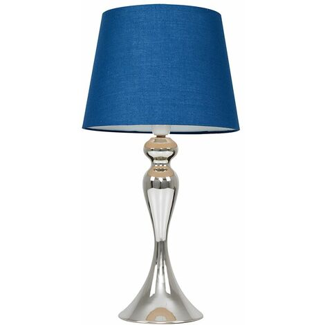 Faulkner Touch Table Lamp in Chrome - Beige - Silver