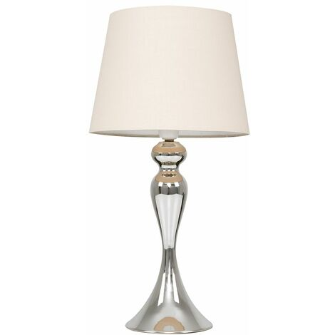 Faulkner Touch Table Lamp in Chrome - Grey - Silver