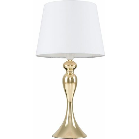 Faulkner Touch table Lamp in Gold & White - LED Bulb - Gold
