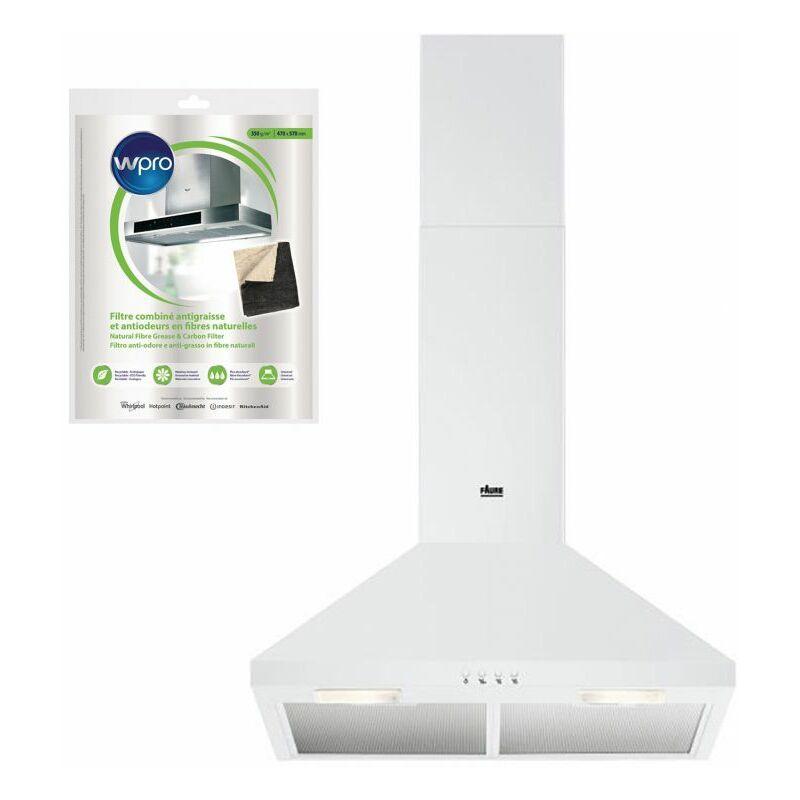 Hotte Décorative pyramidale aspirante BLANC Largeur 60cm Débit d'air 420m3/h - Blanc - Faure