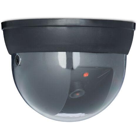 Fausse caméra surveillance 360 degré lampe LED caméra factice, noir