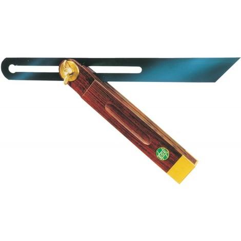 Fausse équerre de précision Longueur des rails 250 mm bois de palissandre
