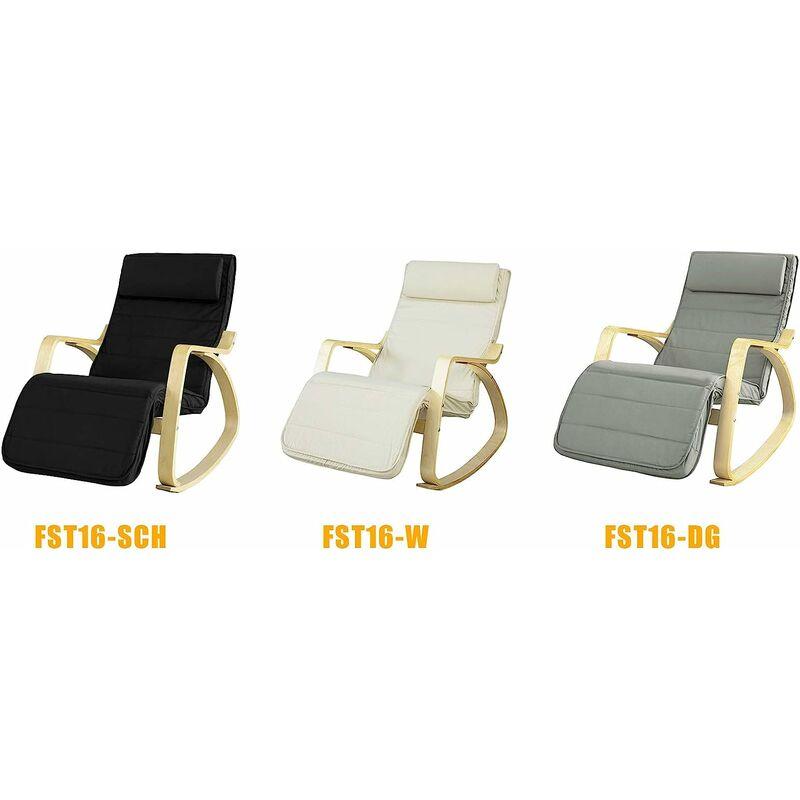 Fauteuil A Bascule Avec Repose Pied Reglable Design Rocking Chair