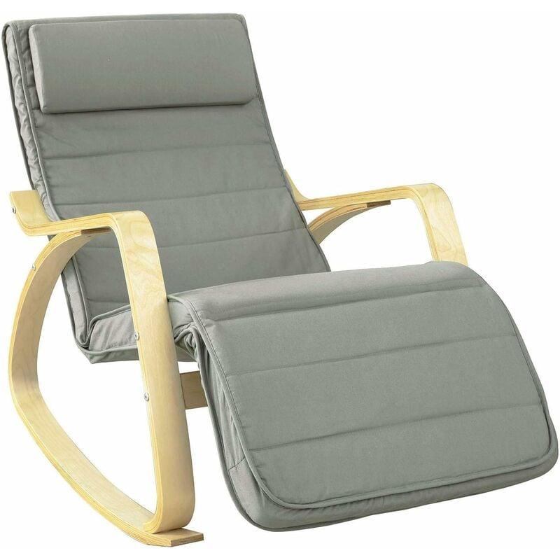 Relax Fauteuil Design.Fauteuil A Bascule Avec Repose Pied Reglable Design Rocking Chair