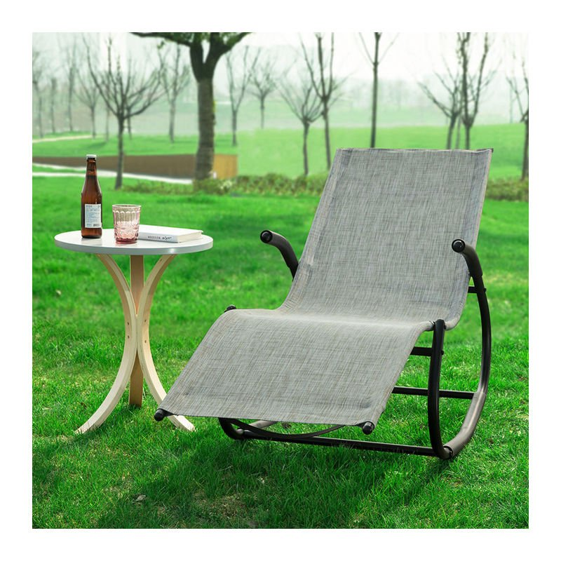 Fauteuil à Bascule Chaise Longue Bains de Soleil Transat de Jardin Rocking  Chair Confortable OGS41-MS SoBuy®
