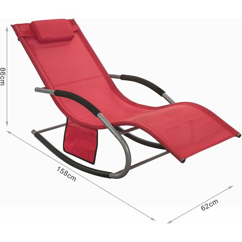 Bain de Soleil Rocking Chair SoBuy® OGS28-R Fauteuil à ...