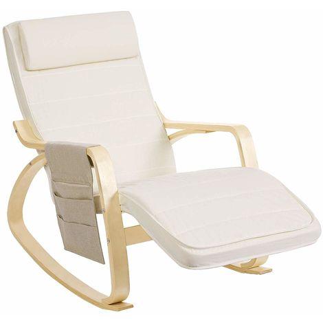 Todeco Fauteuil /à Bascule de Type Rocking Chair Beige