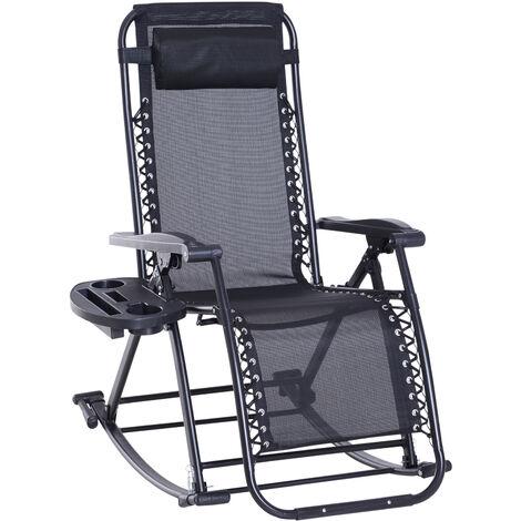 """main image of """"Rocking chair pliable chaise longue zéro gravité 2 en 1"""""""