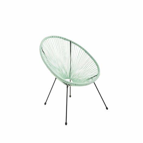 fauteuil acapulco forme d 39 oeuf vert d 39 eau fauteuil 4. Black Bedroom Furniture Sets. Home Design Ideas