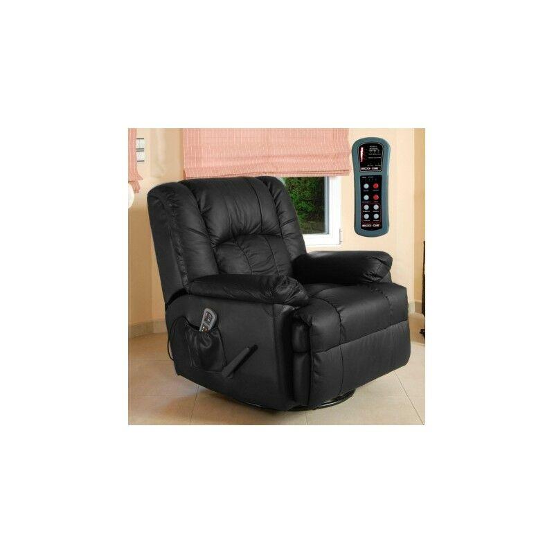 Fauteuil avec massage ECO-DE® ECO-8615 NOIR