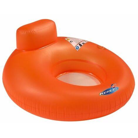 Fauteuil bouée gonflable pour piscine fluo Kerlis - Ø 122 H63 cm - Orange - Orange