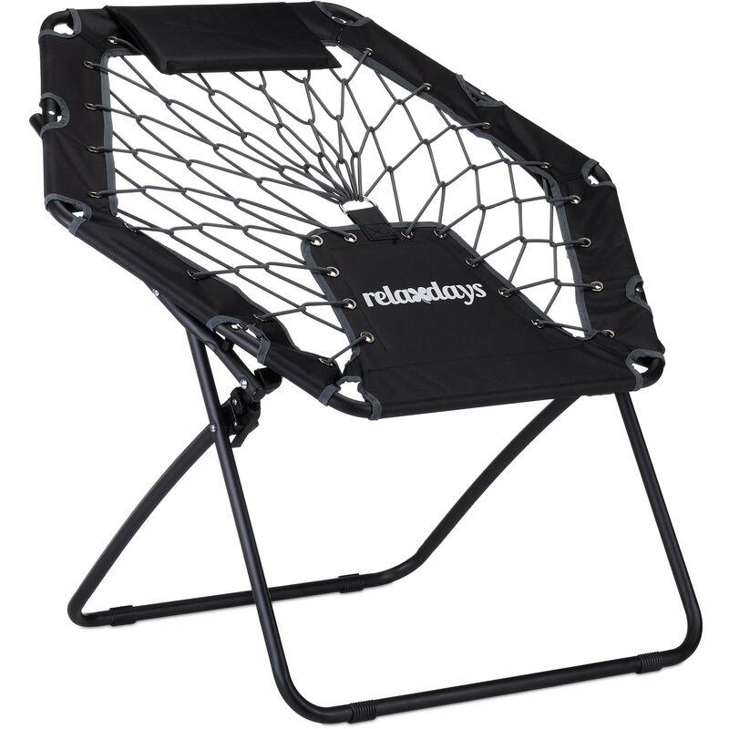 Fauteuil bungy trampoline bungee WEBSTER élastique pliable avec poche jusqu'à 100 kg HxlxP: 70 x 84 x 75 cm