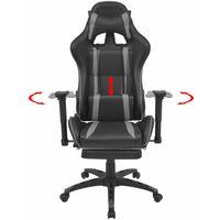 Fauteuil chaise chaise de bureau inclinable avec repose-pied gris