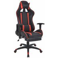 Fauteuil chaise chaise de bureau inclinable avec repose-pied rouge