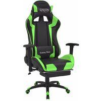 Fauteuil chaise chaise de bureau inclinable avec repose-pied vert
