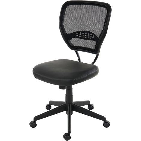 Fauteuil/chaise de bureau Seattle, charge 150kg, similicuir