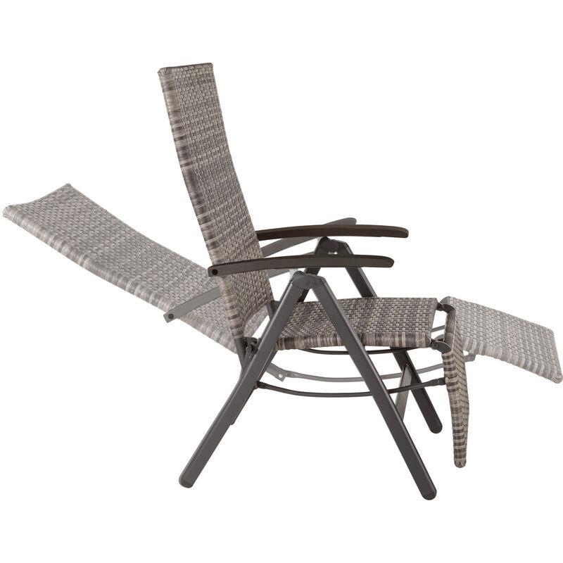 Pliable Chaise Longue en Rotin Style De Jardin Chaise Longue Meubles Résine Réglable Relax