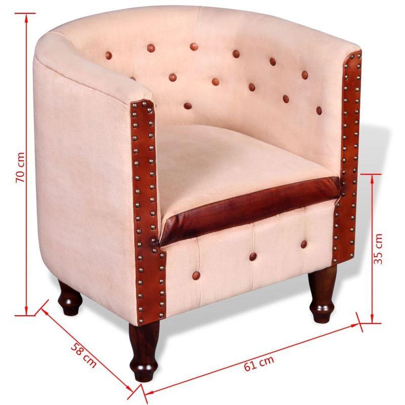 Fauteuil chaise siège lounge design club sofa salon cuir véritable