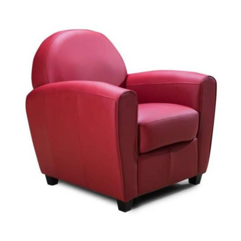 Fauteuil CLUB BUFALLO rouge - rouge