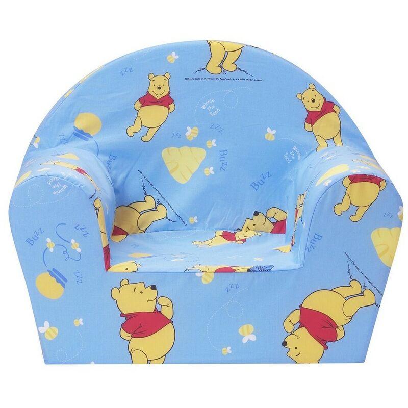 Fauteuil club Imprimé Disney Winnie L'ourson pot de miel bleu