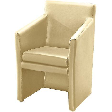 Fauteuil club rectangulaire - h x l x p 850 x 575 x 530 mm - habillage Softex beige