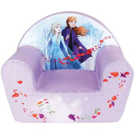Fauteuil club violet Reine des Neiges 2 Anna et Elsa