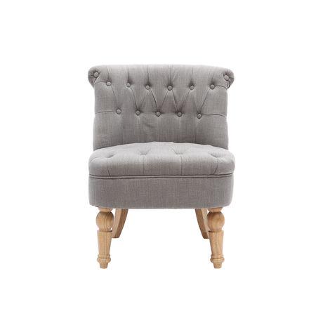 fauteuil crapaud classique tissu gris clair odeon 42916. Black Bedroom Furniture Sets. Home Design Ideas