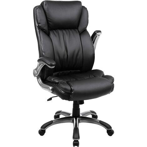 Fauteuil de Bureau Chaise de Bureau Large Coque de siège à