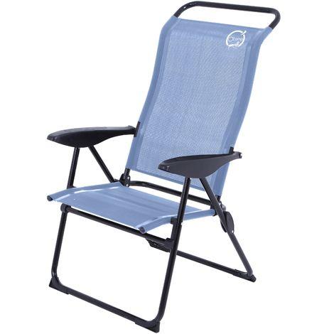 fauteuil de camping 5 positions structure pliable. Black Bedroom Furniture Sets. Home Design Ideas