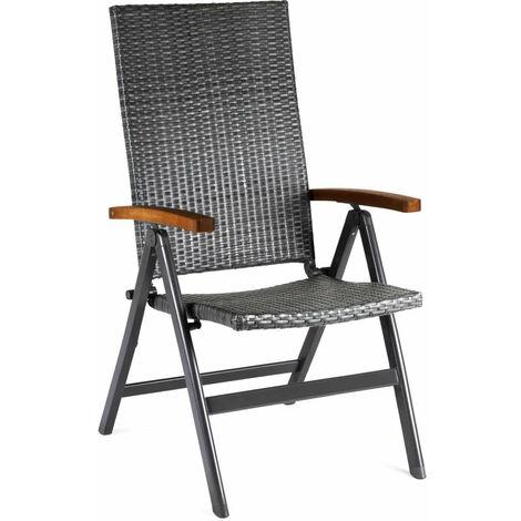 Fauteuil de Jardin Multiposition Chillvert Dominica Rotin et Aluminium 59x68x107 cm - 50021001150132
