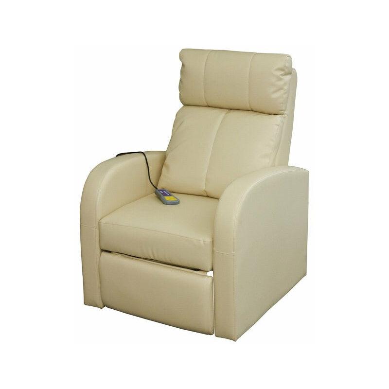 Helloshop26 - Fauteuil de massage confort relaxant massage chauffage massant détente beige - Beige