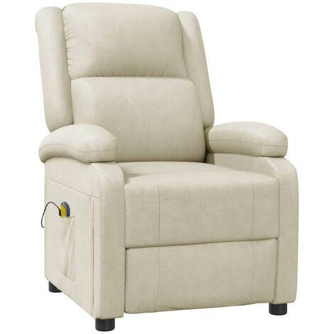 Fauteuil de massage Blanc Similicuir