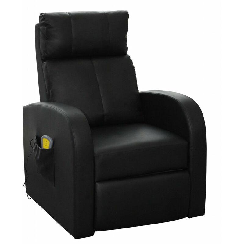 Helloshop26 - Fauteuil de massage confort relaxant massage chauffage massant détente noir - Noir