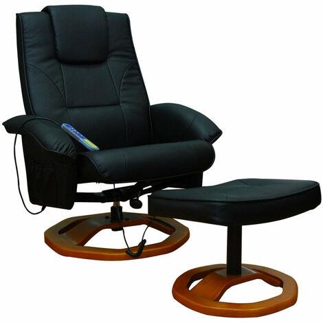 Fauteuil de massage confort relaxant massage chauffage massant détente noir - Noir