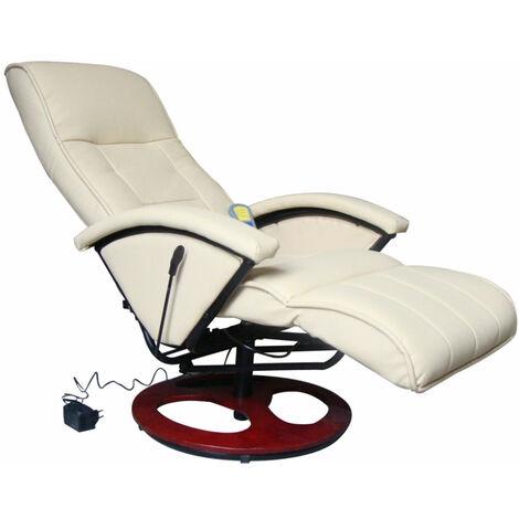 Fauteuil de massage confort relaxant massage massant détente beige - Beige