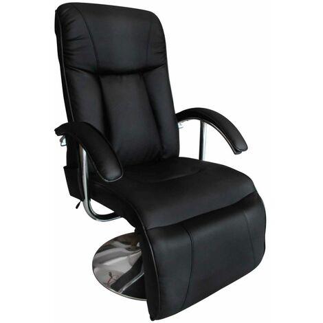 Fauteuil de massage confort relaxant massage massant détente noir - Noir