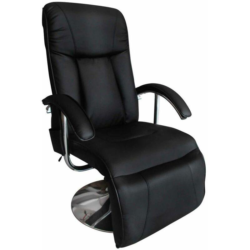 Helloshop26 - Fauteuil de massage confort relaxant massage massant détente noir - Noir