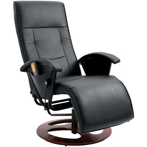 Fauteuil de massage Noir Similicuir
