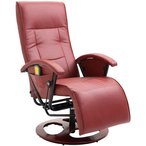 Fauteuil de massage Rouge bordeaux Similicuir