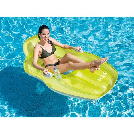 Fauteuil de piscine Lounge avec fond en maille Vert - Intex