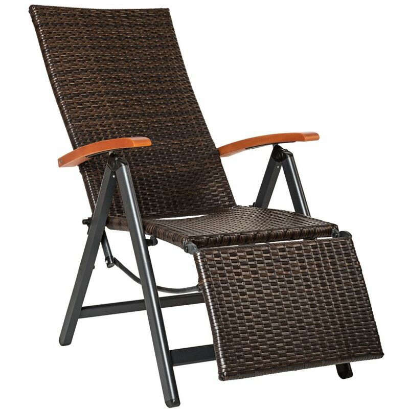 Fauteuil de relaxation avec repose-pieds marron - Marron