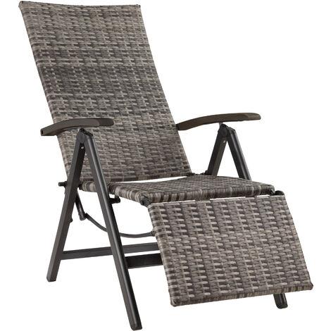 Fauteuil de relaxation avec repose-pieds - mobilier de jardin, chaise de jardin, chaise fauteuil