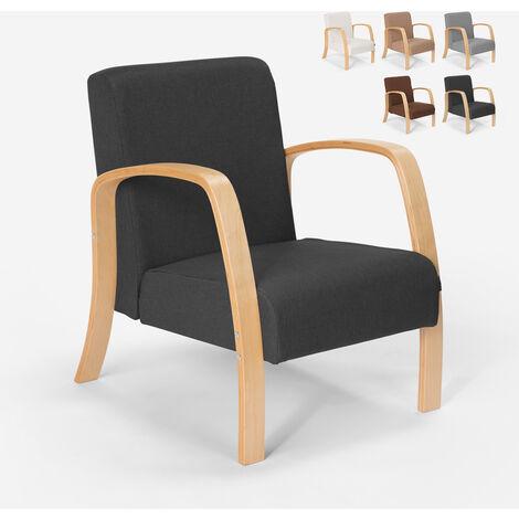 Fauteuil d'étude ergonomique en bois design scandinave Frederiksberg