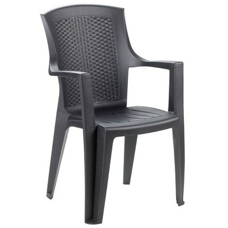 FAUTEUIL EDEN RESINE TRESSEE ANTHRACIT