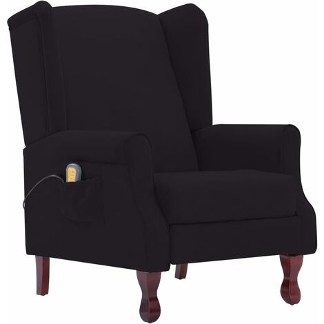 Fauteuil électrique de massage confort relaxant massant détente noir tissu