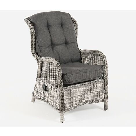 Fauteuil en rotin Sillón reclinable - 1 UD. Gris - Rond - https://images-na.ssl-images-amazon.com/images/I/41OR81w7peL._AC_.jpg