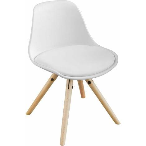 Fauteuil Enfant Chaise Confortable en Bouleau pour enfant avec assise rembourrée haute qualité- Blanc FST46-W SoBuy®