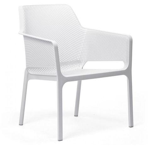Fauteuil exterieur design pour jardins et terrasses Net Relax NARDI - Empilable
