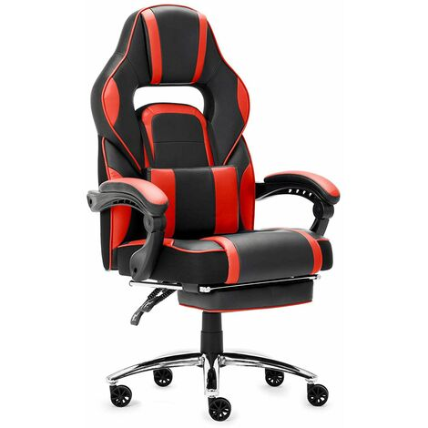 """main image of """"Fauteuil Gaming Chaise de Gamer Siège Ergonomique Chaise Gaming avec Repose-Pied Pliable, Rouge- IntimaTe WM Heart"""""""